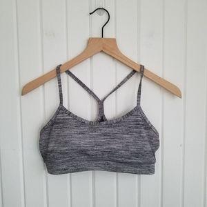 Lululemon Gray Flow Y Sport Bra Size 6